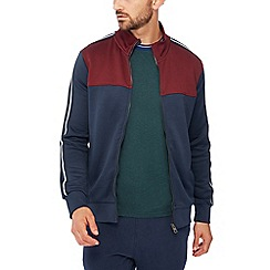 Racing Green - Big and tall blue colour block track top