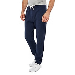 Racing Green - Big and tall navy trimmed joggers