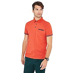 Racing Green - Big and tall orange grindle polo shirt