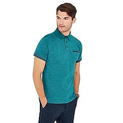 Racing Green - Big and tall green grindle polo shirt