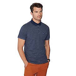 Racing Green - Big and tall navy grindle polo shirt