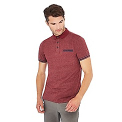 Racing Green - Big and tall dark red grindle polo shirt