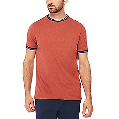 Racing Green - Big and tall dark orange tipped t-shirt