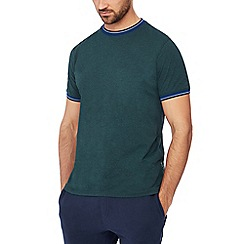 Racing Green - Big and tall dark green tipped t-shirt