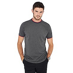 Racing Green - Big and tall dark grey tipped t-shirt