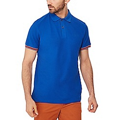 Racing Green - Bright blue tipped cotton polo shirt