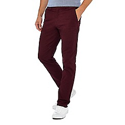 Racing Green - Wine red straight fit chinos