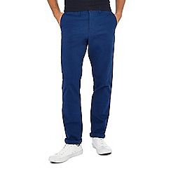 Racing Green - Big and tall blue straight fit chinos