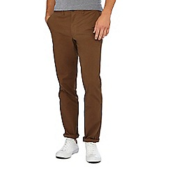 Racing Green - Dark brown straight fit chinos