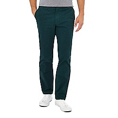 Racing Green - Bottle green straight fit chinos