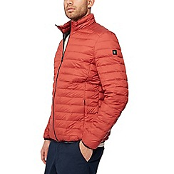 Racing Green - Dark orange quilted jacket