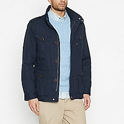Racing Green - Big and tall navy cotton jacket