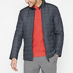 Racing Green - Big and tall dark grey quilted jacket