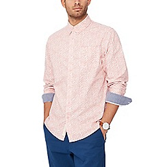 Racing Green - Pink floral long sleeve tailored fit shirt