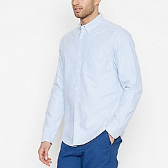 Racing Green - Blue Long Sleeve Regular Fit Oxford Shirt
