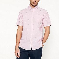Racing Green - Pink bike print short sleeve tailored fit shirt
