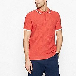 Racing Green - Big and tall coral brick textured polo shirt