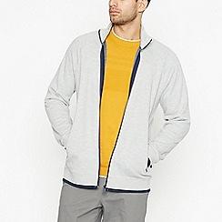Racing Green - Grey Zip Through Jacket