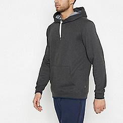 Racing Green - Big and tall dark grey hoodie