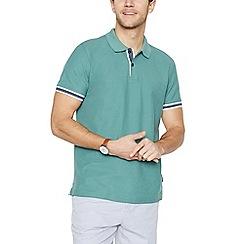 Racing Green - Big and tall green cotton polo shirt