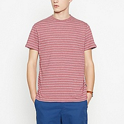 Racing Green - Big and tall red striped cotton t-shirt