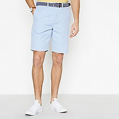 Racing Green - Light Blue Cotton Oxford Chino Shorts