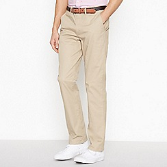 Racing Green - Big and tall light tan stretch regular fit chinos