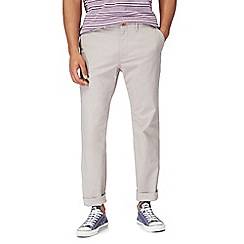 Racing Green - Big and tall light grey chino trousers