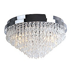 Home Collection - Crystal Glass 'Elisha' Flush Ceiling Light