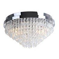 Home collection imogen silver and glass 3 arm flush ceiling light home collection crystal glass elisha flush ceiling light aloadofball Choice Image