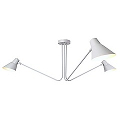 Home Collection - Grey Metal 3 Arm 'Fletcher' Flush Ceilin Light