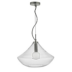 Home Collection - Clear and Frosted Glass 'Oscar' Pendant Ceiling Light