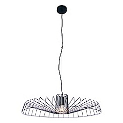 Home Collection - Black Metal 'Nate' Pendant Ceiling Light