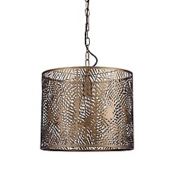 Home Collection - Bronze Metal Laser Cut 'Fayli' Pendant Ceiling Light