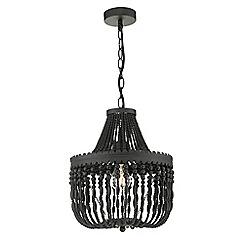 Home Collection - Black Glass Bead 'Camille' Chandelier