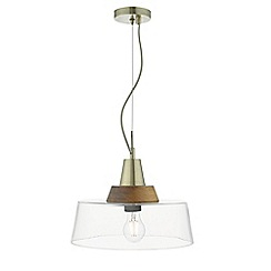 Home Collection - Clear Glass and Wood 'Leon' Pendant Ceiling Light