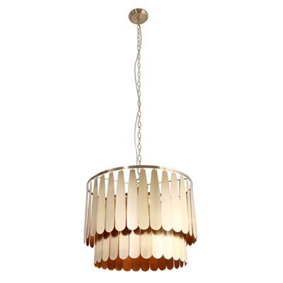 Home collection gold metal elsa pendant ceiling light debenhams