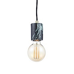 J by Jasper Conran - Green Marble Pendant with LED Bulb
