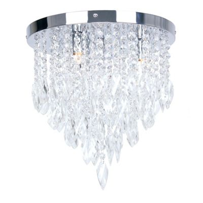 Home collection crystal glass jessica flush ceiling light debenhams aloadofball Gallery