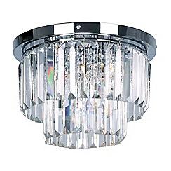 Debenhams - Chrome and crystal 'Melody' flush ceiling light