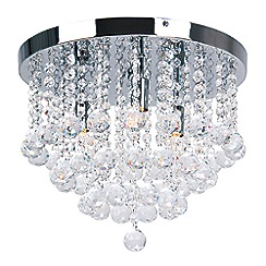 Sale lighting debenhams home collection aliyah crystal glass flush ceiling light aloadofball Gallery