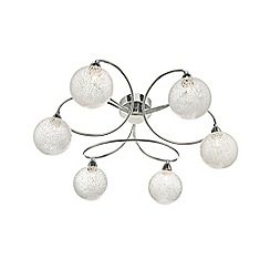 Home Collection - Polished chrome 'Eliana' flush light