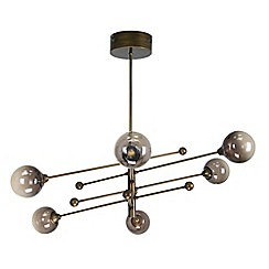 Abigail Ahern/EDITION - Metal and glass 'AA Odette' LED pendant ceiling light