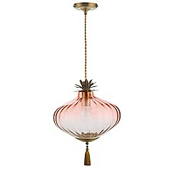 Butterfly Home by Matthew Williamson - Pink 'Zara' glass pendant light