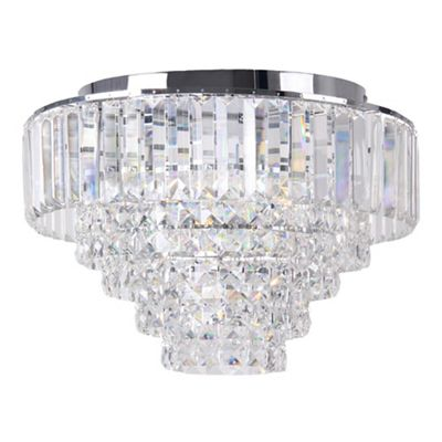 Home collection sophia crystal glass flush light debenhams