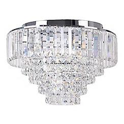 Debenhams - Sophia Crystal Glass Flush Light