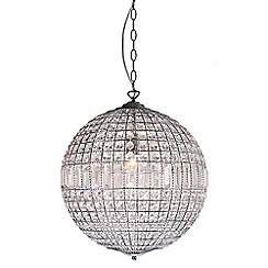 Home Collection - Large Isabella Crystal Glass Ball Pendant Light