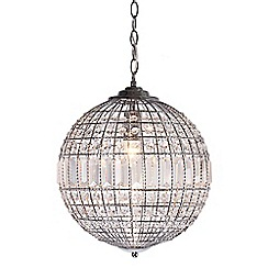 Home Collection - Small Isabella Crystal Glass Ball Pendant Light