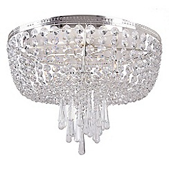 Home Collection - Mia Crystal Glass Flush Light