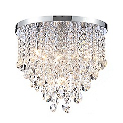Home Collection - Harper Crystal Glass Flush Light